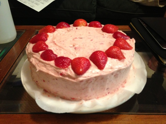 Strawberry Cake for an August Birthday